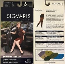 Sigvaris 120PB10 Graduated Support Hosiery Pantyhose Navy 15-20mmHg Size B SHEER