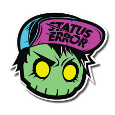 Status Error New Skull Sticker / Hoonigan / Decal / Hook Ups / Canibeat / JDM