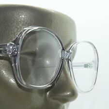 Bifocal Huge Oversize Statement Bold Polished Gray Frame Reading Glasses +1.00