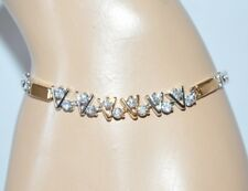 PULSERA tennis mujer oro plata strass elegante brazalete corazones браслет E15