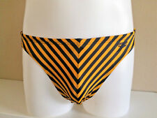 Speedo Men's Yellow/Black Striped Swimsuit Bikini - Nylon/Spandex - Size 32 NEW