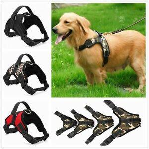 No Pull Dog Pet Harness Adjustable Control Vest Dogs Nylon Reflective S M L XL