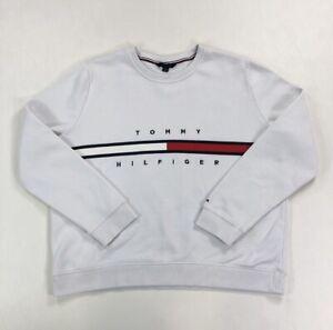 Tommy Hilfiger Sweatshirt Jumper Crewneck White Women's XL
