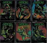 Arrow Season One Comic Book Covers Cryptomium Foil Complete 6 Card Chase Set