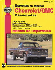 (Spanish Language) Chevrolet/GMC Camionetas Haynes 99040 Manual de Reparaci�n