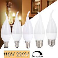 Dimmable 3W LED Chandelier Candle Light Bulb E12 E26 E14 2835 SMD 110V 220V Lamp