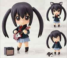 """Anime K-ON! 104# Nakano Azusa 4"""" Nendoroid PVC Figure Face Changeable Toy gifts"""