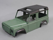 RC 1/10 Scale Truck HARD Body Shell LAND ROVER DEFENDER 90  W/ INTERIOR -PAINTED