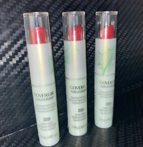 Lot of 3 Covergirl Natureluxe Lip Gloss Balm. # 220 Peony. New, FREE S&H