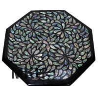 Marble Coffee Table Top Side Table Inlay Gem Stone Pietra Dura Vintage Mosaic