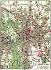 Leipzig Historical City Map from 1913 (C. Starke) Vintage Print Poster