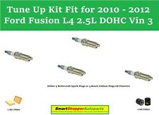 Tune Up Kit Fit for 2010 - 2012 Ford Fusion L4 2.5L Vin 3 Spark Plugs Air Filter