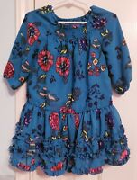Genuine Kids from OshKosh turquoise floral girls tiered ruffles Dress 3T new