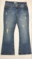 Aeropostale Distressed Hailey Skinny Flare Jeans Women's Junior's Size 5/6 Short