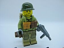 Lego Custom WW2 USA Airborne Minifigure with Weapons Acessories -Army Military
