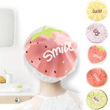Shower Cap Waterproof Elastic Caps Salon Washable Reusable Women Hair Bath Hat