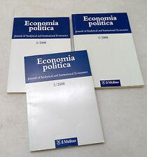 ECONOMIA POLITICA 2008.Journal of Analytical and Institutional Economics,Mulino