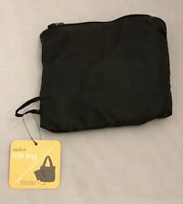 Sack-It Tote Bag - Cleverly Folds Into Its Own Pocket - Black