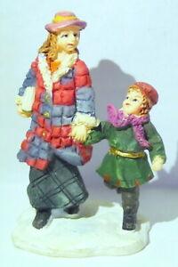Grandeur Noel Victorian Village Siblings Walking Replacement Christmas 2002
