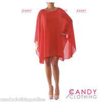 Ladies Baggy Oversize Plus Size Batwing Dress Tunic Top Blouse Size 10 12 14 16