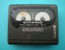 "Sony Wm-51 ""Walkman Hip� Cassette Player Walkman, Grey From Personal Collection"