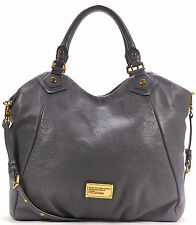 EXCELLENT AUTHENTIC MARC BY MARC JACOBS Gray Leather Classic Q Fran Shoulder Bag