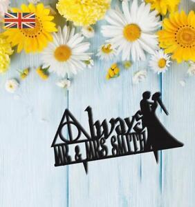 Harry Potter Always Personalised Wedding Cake Topper Keepsake Acrylic.339