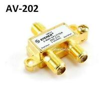 2-Way F-Type 5-900MHz Gold-Plated MATV Splitter, CablesOnline AA-202
