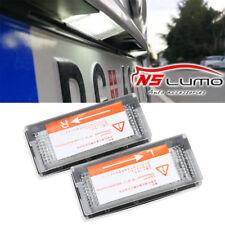 2 Pcs White 18 LED Error Free SMD License Plate Light For BMW E46 4D 5D Sedan