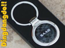 Saab Chrome Keyring Key Ring Gift