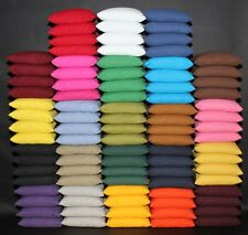 16 ALL WEATHER Cornhole Resin Filled Bags PICK YOUR COLORS! Quality Duck Canvas!