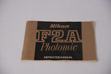 HARD TO FIND NIKON F2A PHOTOMIC INSTRUCTION MANUAL
