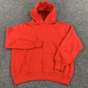 VTG 80s GAP Sport Hoodie Pullover Sweatshirt Women's Medium Blank Raglan Grunge