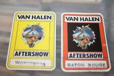 Van Halen - 1982 unused Backstage Pass Worcester + Baton Rouge