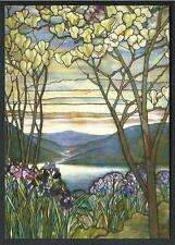 Louis Comfort Tiffany : Magnolias and Irises - cartolina stampata in USA - 2000