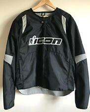 """Icon Motosports """"Overlord Textile Jacket"""" Men Size 2 XL ~ Black Nylon Motorcycle"""