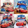 McQueen Cars Single Quilt Doona Duvet Cover Set Pillow Case Linen Red Blue