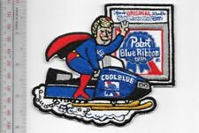 Beer Snowmobile Pabst Beer Blond Cool Blue First at Finish Line 1970's Milwaukie