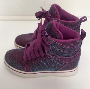 Heelys Girls Youth Size 13c Purple Blue Duochrome - No Wheels