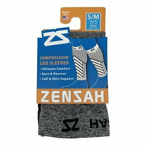 Zensah Compression Training Recovery Leg Sleeves Grey S/M