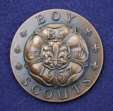 More details for 1957 - world scout jamboree - international conference - participants medal rare