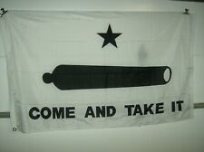 New listing 3x5 Texas Gonzales Gonzalez Come and Take It Cannon Flag 3'x5' Banner grommets