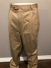 JoS. A. Bank Men's Khaki Pleated Traveler Twill Pant - 42W x 36L - NWT $119.50