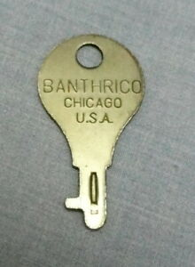 VINTAGE BANTHRICO FLAT KEY FOR YOUR COLLECTIBLE BANTHRICO BANK - CHICAGO, USA