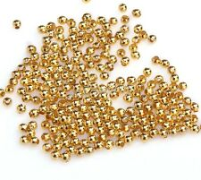 500pcs Golden Plated Metal Ball Findings Diy Spacer Beads For Craft 2.5mm