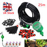 25M Auto Timer / Manual Drip Irrigation System Home Garden Plant Watering Set