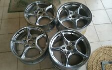 Porsche 996 genuine Carrera 5 spoke chrome rims alloy wheels 964 993 996 997