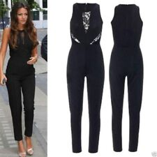 Traje conjunto mono elegante Vintage High Waist Pants Evening Cocktail Jumpsuit