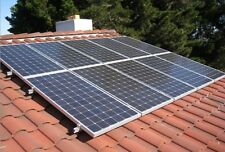 Solar panel mounting system for Spanish /flat tile roof, for 6 full size panels