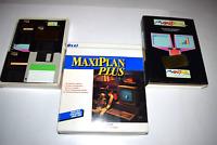 MaxiPlan Plus Commodore Amiga Computer Program Discs Complete in Box